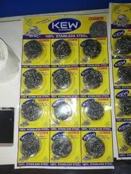 12 pcs stainless steel scrubber chart