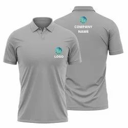 Gray Customised Polo Shirt for Men and Wiomen