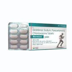 Movezox  (Diclofenac 50mg , Paracetamol 325mg , Chlorzoxazone 500 mg)