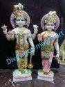 Marble Vishnu Lakshmi Statue