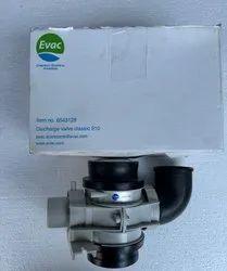 White Plastic Evac 6543128 Discharge Valve