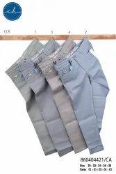 Cotton/Linen Plain Men Casual Trousers