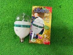 Multicolor Libero Colorful Rotating LED Bulb, For Home