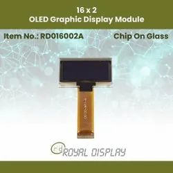 16x2 OLED Graphic Display Module (RD016002A)