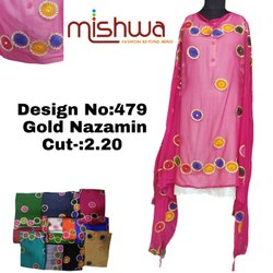 Ladies Fancy Gold Nazamin Dupatta