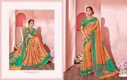 Silk India Mustard Exclusive Patola Saree, 5.5 m (separate blouse piece)