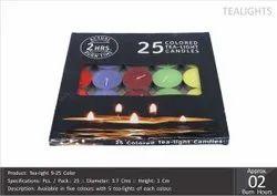 Tea Light 9-25 Color Candles