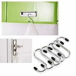Stainless Steel Silver SS Heavy Duty Hanging Hooks - 5 Pc