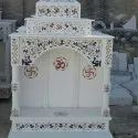 White Marble Temple With Inlay Work
