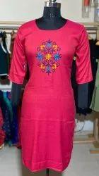 Ladies Designer Embroidered Kurti