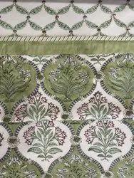 Hand Block Printed Cotton Voile Reversible Dohar