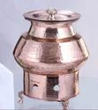 Copper Hammered Degh Chafing Dish