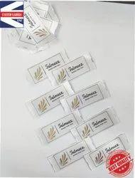 Sew on logo labels