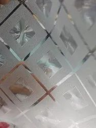 PVC Square Pattern Glass Film, For Office