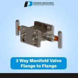 2 Way Manifold Valve Flange To Flange