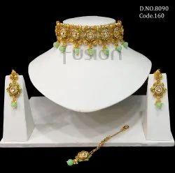 Fusion Arts Meenakari Choker Necklace Set