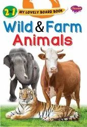 2 in 1 My Lovely Board Book Wild and Farm Animals