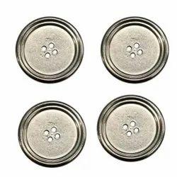 Round Aluminium Garment Button, For Garments