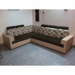 L Shape Sofa Set And Wooden Sofa