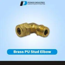 Brass PU Stud Elbow