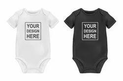 Printed Cotton Baby Bodysuits, Half Sleeves