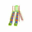 Outdoor Playground Double Roller Slide