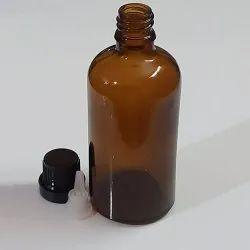 Amber 100ml Glass Euro Dropper Bottle
