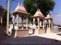 Pink Stone Chhatri Gazebo Temple