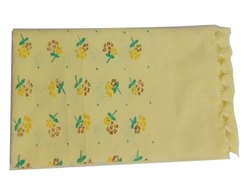 Yellow Printed Cotton Towel, Rectangular, Size: 30x60inch