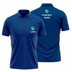 Navy Blue Polo Shirt with Custom Logo