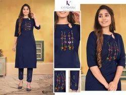 Cotton Designer Kurti Pant For Woman