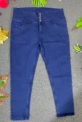 Women High Waist Plus Size Jeans