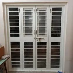 White Toughened Glass Door, For Office