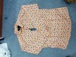 Low Range Printed Beige Color Men Shirt