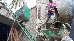 Concrete Mixer & Ladder Lift