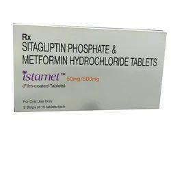 Sitagliptin Phosphate And Metformin Hydrochloride Tablets 50Mg/500Mg