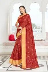 Woman Cotton Silk Saree