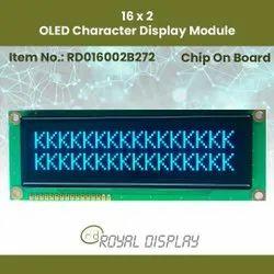 16x2 OLED Character Display Module (RD016002B272)