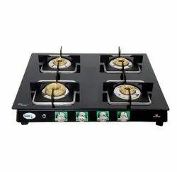 Kraft Italy 4 Burner Gas Stove, For Kitchen