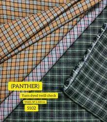 Check Yarn Dyed Twill Shirting Fabric