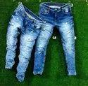 Casual Wear Button Mens Denim Rough Jeans, Waist Size: 28-34