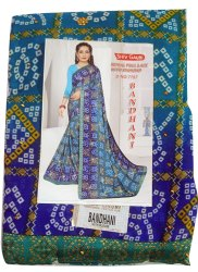Ladies Bandhani Saree, Georgette, 6.3 M (with Blouse Piece)