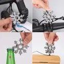 18-in-1 Snowflake Multi-Tool Multipurpose Screwdriver Tool  Bottle Opener Tool