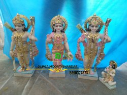Makrana Marble Ram Darbar Statue