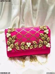 Ethnic Designer Clutch Bag - Bridal Evening Clutch Bag