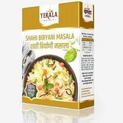 Yerala Shahi Biryani Masala, Packaging Size: 10g, Packaging Type: Box