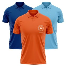 Orange and Blue Colour Company Polo Shirts for Men and Women