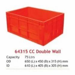Double Wall Jumbo Plastic Crates