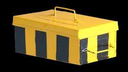 Metal Color: Black Yellow Zebra Crossing Bill Box, For Restaurants