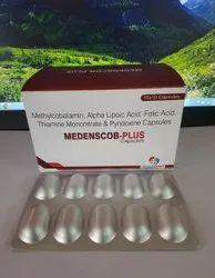 Methylcobalamin + Alpha Lipoic Acid + Folic Acid +Thiamine Mononitrate + Pyridoxine Capsule